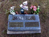Shown above is the gravestone for Andrew V. Mattson & his wife, Hannah Sofia [Johnson] Mattson. They both rest in Forest Home Cemetery, Newberry, Luce, MI.
