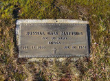 Russell Dale Mattson was the fifth child of seven & the second eldest son to be born to, Charles E. Mattson & his wife, Sydney M. [Bond] Mattson. He rest in the Mattson Family Plot, Forest Home Cemetery, Newberry, Luce, MI.