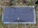 George died in Newberry on, 23 July 1974. He rests next to his wife in Forest Home Cemetery, Newberry, Luce, MI.