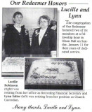 Scanned from a newspaper artle about one of the organizations Lucille belonged to.