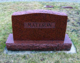The gravestone marker for, Harry M. Mattson & his wife, Esther [Steiker] Mattson. They rest together in Forest Home Cemetery, Newbrry, Luce, MI.