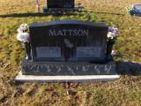 The gravestone marker for, William Andrew Mattson & his wife, Shirley Ann [Monica] Mattson.