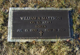 This stone clearly shows William, Bill as a veteran of the Korean conflict.