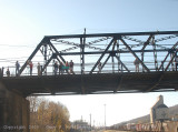 A TV crew and others on the bridge at Grant St.jpg