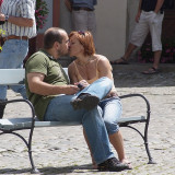 A kiss in the sun - Cesky Krumlov