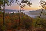 Sunrise view from Rush Ridge.
