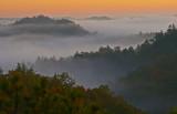 Red River Gorge morning fog.