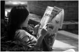 Reading in Hong Kong.