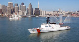 2008 - the Coast Guard Cutter EAGLE and Coast Guard Cutter BERTHOLF meet in San Francisco Bay
