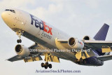 FedEx MD10-10F N393FE (ex United N1828U) landing at MIA aviation cargo airline stock photo #2136