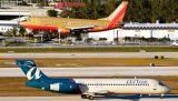 AirTran B717 N961AT & Southwest Airlines B737-3H4 N615SW airline aviation stock photo #2512