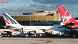 Virgin Atlantic B747-443 G-VGAL, Air France B747 and Martinair B767 airliner aviation stock photo #2768