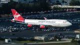 Virgin Atlantic B747-443 G-VLIP Hot Lips airliner aviation stock photo #3103