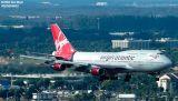Virgin Atlantic B747-443 G-VLIP airliner aviation stock photo #3101