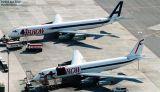 Arrow Air DC8-63F N906R and DC8-62F N802BN cargo airline aviation stock photo #3097