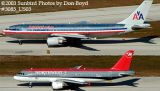 American Airlines A300B4-605R N50051 & Northwest Airlines A320-212 N365NW airline aviation stock photo #3085_US03