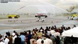Water cannon salute for MIA's Runway 8 first flight, airliner aviation stock photo #6643