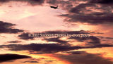 American Airlines B757-223 airliner sunset aviation stock photo