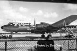 1961 - Delta DC-7B N4890C at Palm Beach International Airport airline aviation stock photo