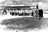 1929 - Guests attending a ground-breaking ceremony at Miami Municipal Airport in NW Dade County, FL