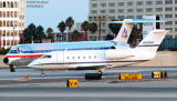 Limex II LLC Canadair CL-600 Challenger & American MD82 N578AA aviation stock photo