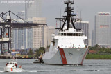 The USCGC BERTHOLF (WMSL 750) coming out of the Port of Miami, photo #1948