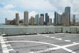 A partial view of the helo deck onboard the USCGC BERTHOLF (WMSL 750) with Brickell Key in the background, photo #0534