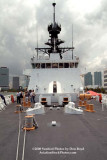 Looking aft from the bow onboard the USCGC BERTHOLF (WMSL 750) with downtown Miami in the background, photo #0541