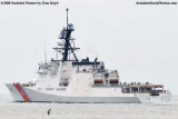 The USCGC BERTHOLF (WMSL 750) turning north after leaving Government Cut at Miami Beach, #1982