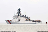 The USCGC BERTHOLF (WMSL 750) turning north after leaving Government Cut at Miami Beach, #1984