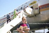 Early 1973 - windblown stairtruck boarding of National Airlines B747-135 N77772 Patricia at LAX