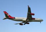 Virgin Atlantic A-340 approach JFK RWY 13L