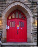 Side door of church