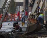 Rebuilding the sidewalk