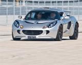 Jacques Duval  chroniqueur et pilote automobile à bord de sa lotus Elise Type 72D d'environ  $ 70,000.00