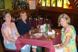 July 2008 - Linda Grother, Karen and Brenda at El Segundo Viajante in Hialeah
