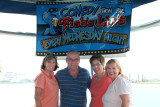 July 2008 - Brenda, Don, Linda Mitchell Grother and Karen at Coastie-owned Fish Lips in Cape Canaveral