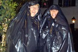 July 2008 - Linda Mitchell Grother and Brenda in St. Petersburg fashionable rain garb