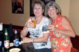 July 2008 - Linda Mitchell Grother and Brenda in a cool bar on Lincoln Road Mall