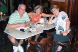 July 2008 - Don, Brenda and Linda Mitchell Grother at the Van Dyke Cafe