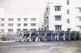 1942 - Clark Gable marching with other Army Air Corps Officer Candidate School students in Miami