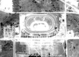 1963 - closeup aerial view of the Palmetto Speedway on NW 74th Street and Milam Dairy Road (NW 72nd Avenue), Medley