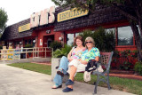 October 2008 - Linda Mitchell Grother and Brenda at the last Lums restaurant in the southeastern USA