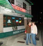 November 2008 - Brenda and Linda Mitchell Grother outside 61-year old Bryson's Irish Pub in Virginia Gardens