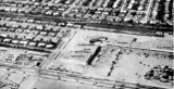 Early 1964 - closeup view of Palm Springs shopping center, Royal Castle, Eagle-Army Navy on Palm Springs Mile