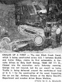 1961 - Dale Scott George flips his Corvette at the new Black Creek Canal on US 1