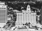 1950's - aerial view of the Whitman Hotel or the Sea Isle Hotel at 30th Street and Collins Avenue, Miami Beach