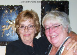 Charlis - Sue Strawser (right)  with her sister Geri (left) in 2009