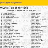 WQAM top songs for 1963