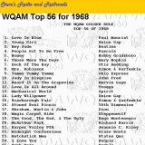 WQAM top songs for 1968
